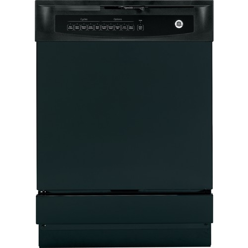 GE GSD4000KBB Full Console Built-In Dishwasher with Piranha  Hard Food Disposer