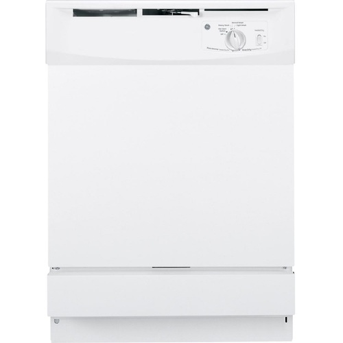 GE GSD2100VWW Front Control Dishwasher in White, 64 dBA