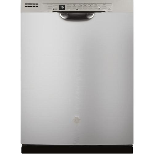 """GE 24"""" Stainless Steel Front Control Built-In Dishwasher"""
