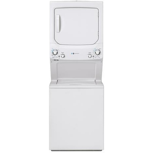 "Haier GUD27GESNWW 27"" Black Electric Combination 3.9 cu.ft. Washer and 5.9 cu.ft. Dryer"