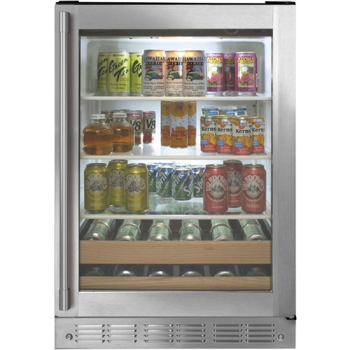 Monogram ZDBR240NBS 24 Inch Freestanding/Built-In Beverage Center with 5.5 Cu. Ft. Total Capacity