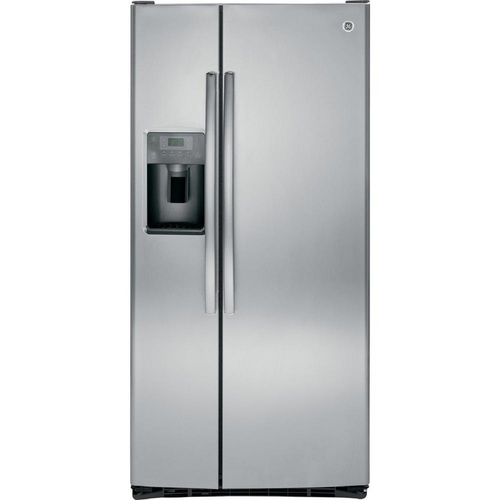 GE GSS23GSKSS 33 Inch Stainless Steel Freestanding Side by Side Refrigerator