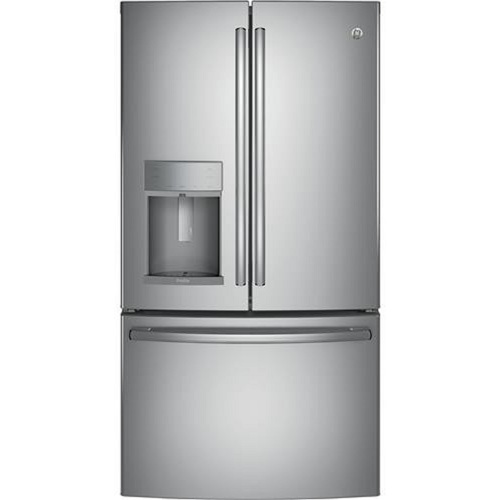 GE PFD28KSLSS 36 Inch Smart French Door Refrigerator with Wi-Fi Connectivity
