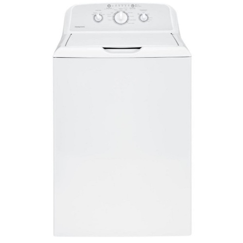 GE HTW240ASKWS 4.5 cu.ft. White Stainless Steel Top Load Washer