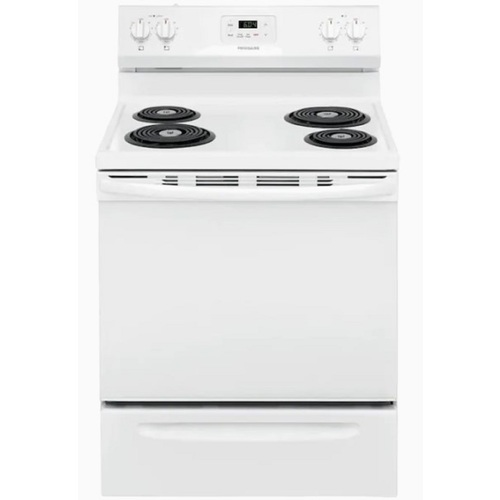 "Frigidaire FCRC3005AW 30"" 5.3 cu.ft. White Electric Range with 4 Burners"